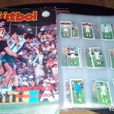 Coleccionismo deportivo: LIGA 77-78 ALBUM VACIO + 126 CROMOS SIN PEGAR , COLOCA REXACH, FICHAJE ZUVIRIA,SIERRA,COROMINAS. Lote 97813519