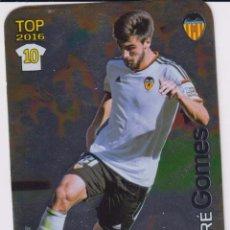 Coleccionismo deportivo: 643.- ANDRE GOMES -BRILLO LISO- (VALENCIA) QUIZ GAME 2016 (MUNDICROMO 2015/16) MUNDICROMO. Lote 39325567