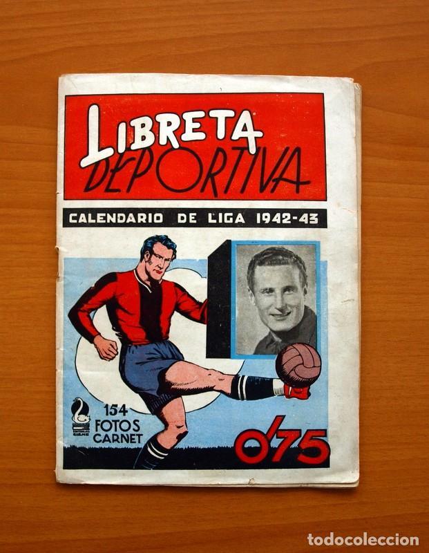 LIBRETA DEPORTIVA - LIGA 1942-1943, 42-43, PRIMERA DIVISIÓN - EDITORIAL CISNE (Coleccionismo Deportivo - Álbumes y Cromos de Deportes - Álbumes de Fútbol Incompletos)