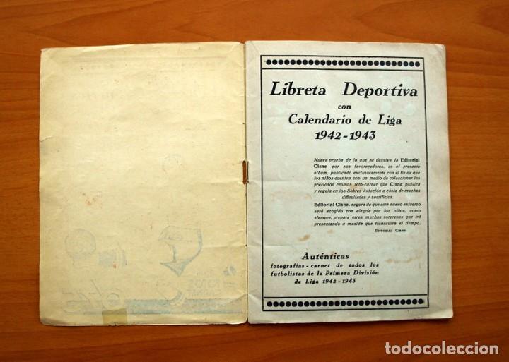Coleccionismo deportivo: Libreta deportiva - Liga 1942-1943, 42-43, Primera división - Editorial Cisne - Foto 2 - 98573943