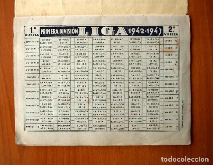 Coleccionismo deportivo: Libreta deportiva - Liga 1942-1943, 42-43, Primera división - Editorial Cisne - Foto 17 - 98573943
