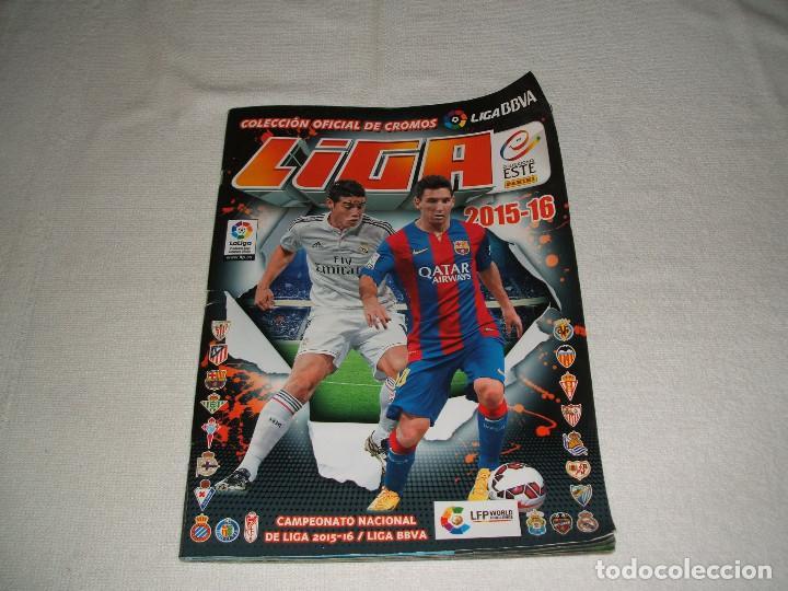 ÁLBUM CROMOS LIGA 2015-16 CON ALGUNOS CROMOS PEGADOS (Coleccionismo Deportivo - Álbumes y Cromos de Deportes - Álbumes de Fútbol Incompletos)