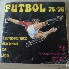 Coleccionismo deportivo: FUTBOL 75/76 DE VULCANO. RARISIMO. COMPLETO. Lote 99213655