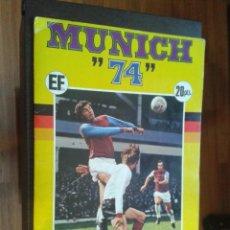 Coleccionismo deportivo: ALBUM MUNICH 74 FHER COCA COLA CASI COMPLETO,SOLO FALTAN 4 CROMOS,CONSERVA LA PUBLICIDAD. Lote 99237735