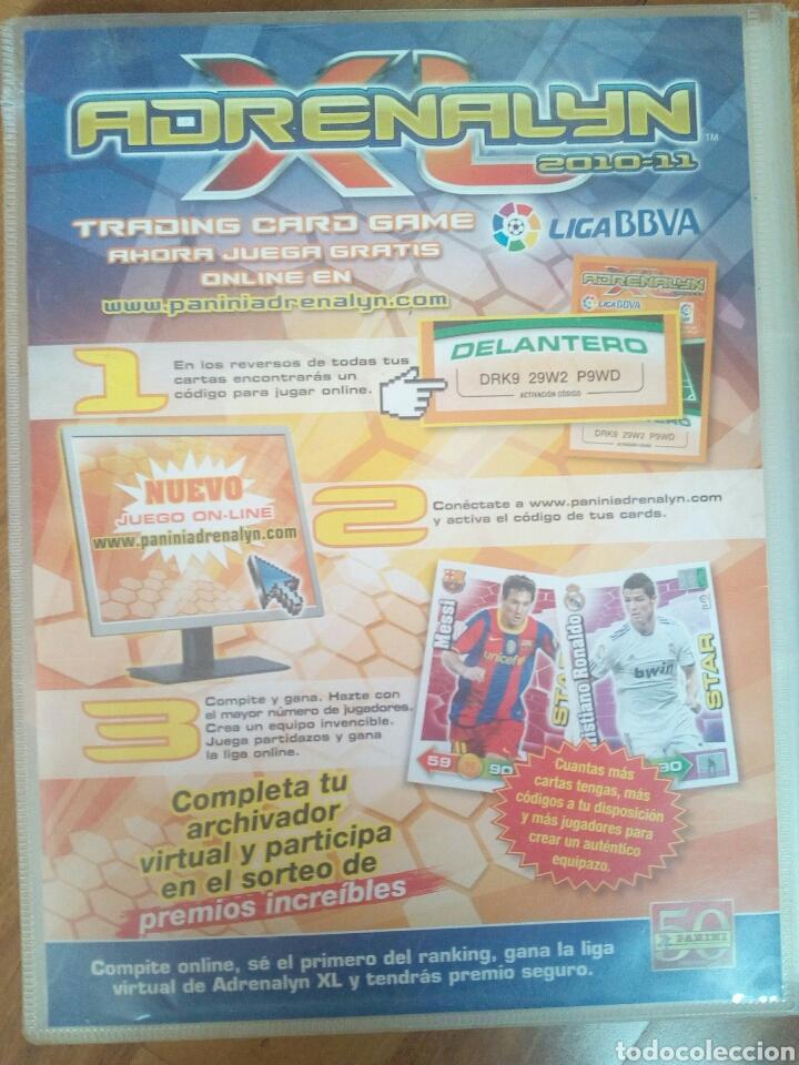 Coleccionismo deportivo: ARCHIVADOR ADRENALYN 10-11 - Foto 2 - 99300052