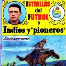 Coleccionismo deportivo: ESTRELLAS DEL FUTBOL E INDIOS Y PIONEROS. CHOCOLATES DULCINEA. VACIO. MUY RARO. 1958.. Lote 99495463