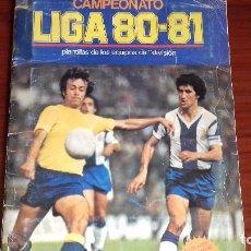 Coleccionismo deportivo: ALBUM LIGA 80-81 CON 40 CROMOS PEGADOS. Lote 100051919