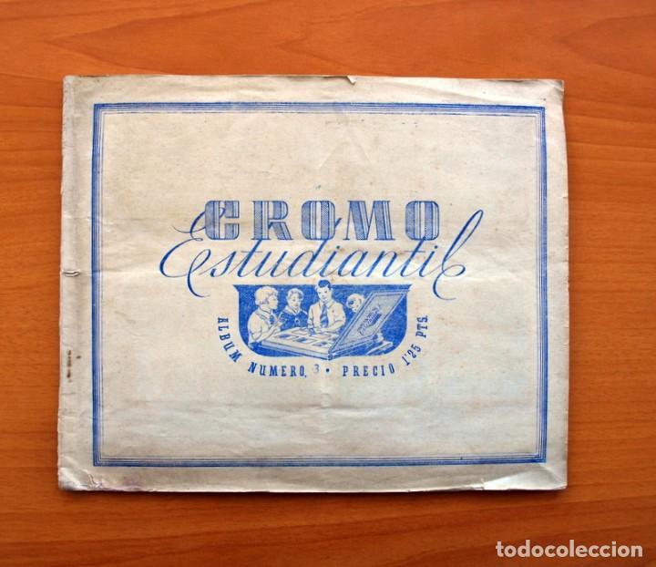 ÁLBUM CROMO ESTUDIANTIL Nº 3 - AÑO 1941 - VER FOTOS Y EXPLICACIONES INTERIORES (Coleccionismo Deportivo - Álbumes y Cromos de Deportes - Álbumes de Fútbol Incompletos)