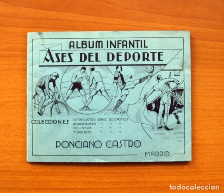 ÁLBUM INFANTIL ASES DEL DEPORTE - PONCIANO CASTRO - AÑO 1935 - VER FOTOS Y EXPLICACIONES INTERIORES (Coleccionismo Deportivo - Álbumes y Cromos de Deportes - Álbumes de Fútbol Incompletos)