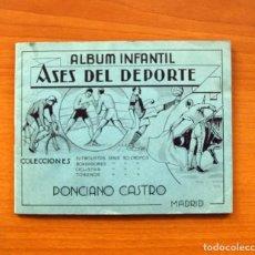 Coleccionismo deportivo: ÁLBUM INFANTIL ASES DEL DEPORTE - PONCIANO CASTRO - AÑO 1935 - VER FOTOS Y EXPLICACIONES INTERIORES. Lote 100155115