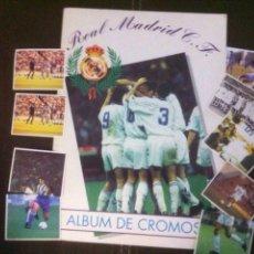 Coleccionismo deportivo: ALBUM REAL MADRID A FALTA DE 33 CROMOS REGALO 9 CROMOS SIN PEGAR. Lote 100336252