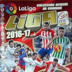 Coleccionismo deportivo: ALBUM LA LIGA 2016-17 SOLO CON LOS CROMOS QUE VIENEN CON EL ALBUM. Lote 100439483