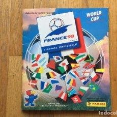 Coleccionismo deportivo: ALBUM FRANCE 98, WORLD CUP, PANINI, ALBUM MUNDIAL FRANCIA 98. Lote 101182899