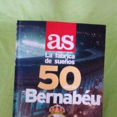 Coleccionismo deportivo: LIBRO ÁLBUM 50 AÑOS BERNABÉU, LA FÁBRICA DE SUEÑOS, INCOMPLETO FÚTBOL, REAL MADRID, 1998. Lote 101193695