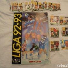 Coleccionismo deportivo: ALBUM ESTE 92/93 MUY NUEVO CON 358 CROMOS. LEER TEXTO.. Lote 101654699