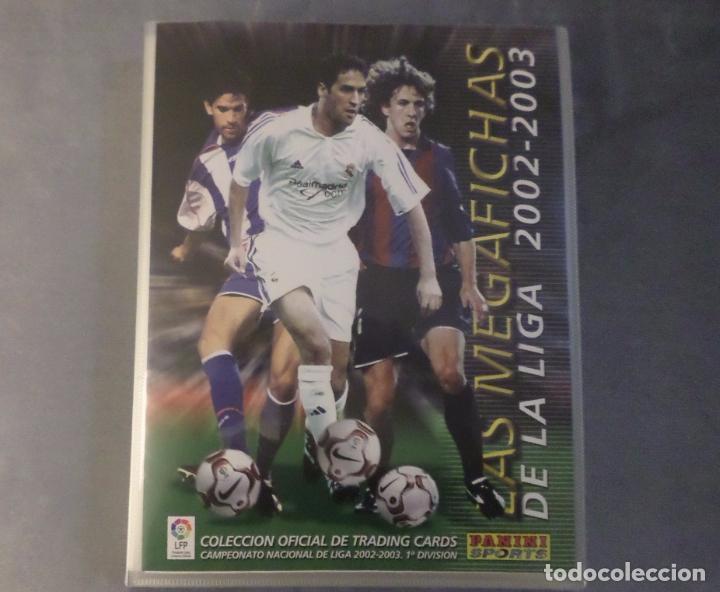 ALBUM ARCHIVADOR VACIO MEGAFICHAS 2002 2003 02 03 PANINI. CROMOS LIGA FÚTBOL COLECCIÓN MEGACRACKS (Coleccionismo Deportivo - Álbumes y Cromos de Deportes - Álbumes de Fútbol Incompletos)
