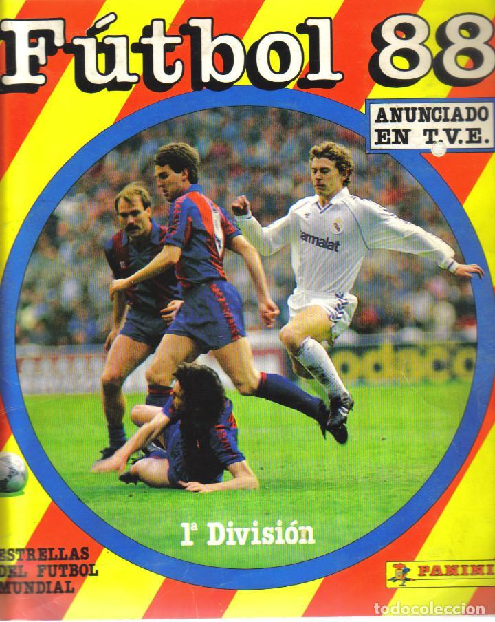ALBUM DE CROMOS FUTBOL 88 DE PANINI - 349 CROMOS PEGADOS, FALTAN 37 (Coleccionismo Deportivo - Álbumes y Cromos de Deportes - Álbumes de Fútbol Incompletos)