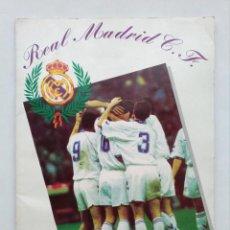 Coleccionismo deportivo: REAL MADRID CLUB FUTBOL, (EL ALBUM CONTIENE 217 CROMOS), LIGA 1994 1995, 94 95, TAMBIEN BALONCESTO. Lote 103730795