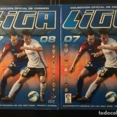 Coleccionismo deportivo: ED.ESTE 2007/08. LOTE 2 ALBUMES INCOMPLETOS. Lote 103823907