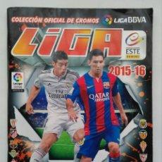 Coleccionismo deportivo: ALBUM FUTBOL LIGA 2015-16, COLECCION OFICIAL BBVA, ESTE, 411 CROMOS PRGADOS, (CONTIENE 42 FICHAJES). Lote 104012763