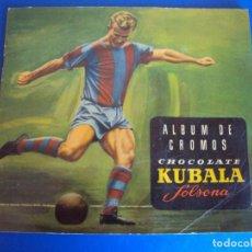 Coleccionismo deportivo: (AL-171178)ALBUM CROMOS CHOCOLATE SOLSONA - KUBALA - CONTIENE 41 CROMOS. Lote 104597715