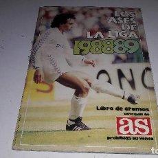 Coleccionismo deportivo: CROMOS...ÁLBUM LOS ASES DE LA LIGA....1988-89.....DIARIO AS....INCOMPLETO.... Lote 104705979