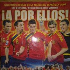 Coleccionismo deportivo: ¡A POR ELLOS! PANINI SELECCIÓN ESPAÑOLA 2009 - ÁLBUM PLANCHA VACÍO NUEVO. Lote 106029607
