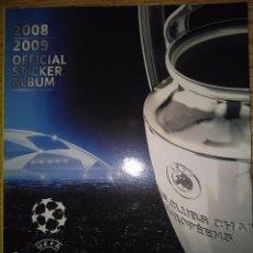 Coleccionismo deportivo: CHAMPIONS LEAGUE 08/09 PANINI - ÁLBUM PLANCHA VACÍO NUEVO. Lote 106029647