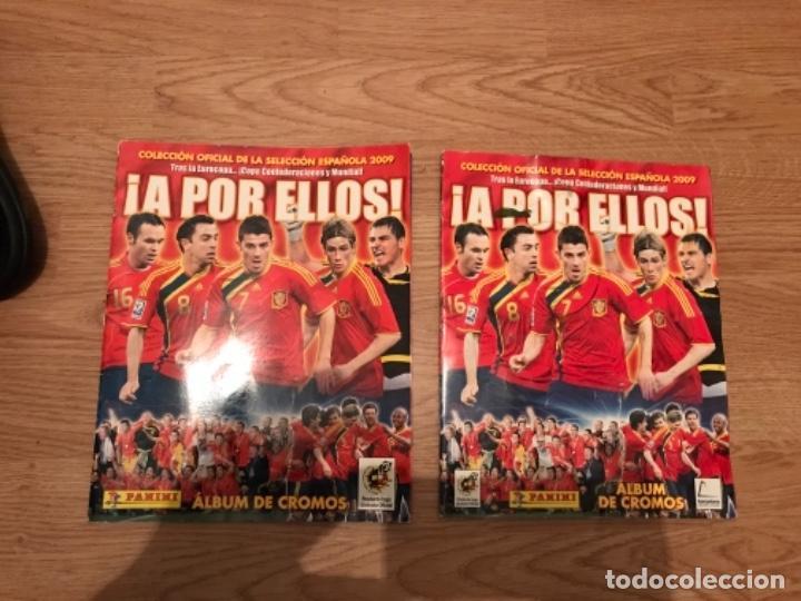 LOTE DE DOS ALBUM DE FUTBOL PANINI ¡A POR ELLOS! AÑO 2009 VACIOS (Coleccionismo Deportivo - Álbumes y Cromos de Deportes - Álbumes de Fútbol Incompletos)
