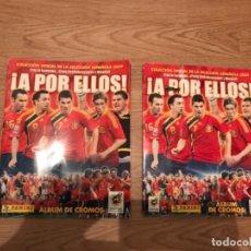 Coleccionismo deportivo: LOTE DE DOS ALBUM DE FUTBOL PANINI ¡A POR ELLOS! AÑO 2009 VACIOS . Lote 107601867