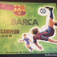 Coleccionismo deportivo: ALBUM DE CROMOS PEGATINAS BARÇA CAMPEON DE LIGA 84/85 NUEVO SIN USAR F. BARCELONA BARCA. Lote 107614731