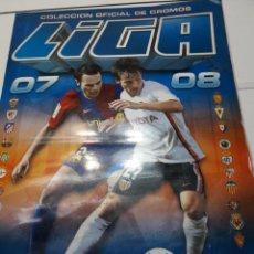 Coleccionismo deportivo: ÁLBUM CROMOS LIGA 07-08 COLECCIONES ESTE LICENCIA LFP. Lote 107771923