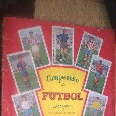 Coleccionismo deportivo: CAMPEONATO DE FÚTBOL JUGADORES DE PRIMERA DIVISIÓN EN COLORES. COLOR ROJO. BACHENDE. FALTAN 5. Lote 107920659