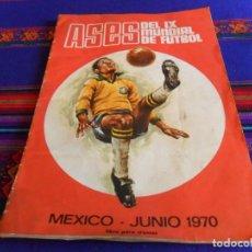 Coleccionismo deportivo: ASES DEL IX MUNDIAL DE FÚTBOL MÉXICO JUNIO 1970 INCOMPLETO CON 207 CROMOS. FHER. . Lote 108438331