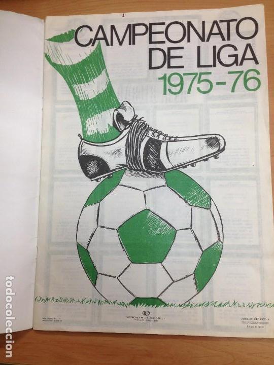 Coleccionismo deportivo: ALBUM INCOMPLETO FUTBOL CAMPEONATO DE LIGA 1975/76 EDITORIAL DISGRA - Foto 2 - 108803015