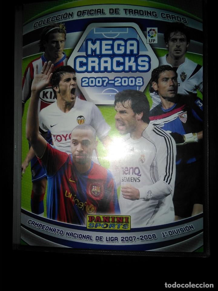 ALBUM MEGA CRACKS 2007 2008, PANINI, CON 340 CARTAS-TRADING CARDS-CROMOS (LIGEROS DESPERFECTOS LOMO (Coleccionismo Deportivo - Álbumes y Cromos de Deportes - Álbumes de Fútbol Incompletos)