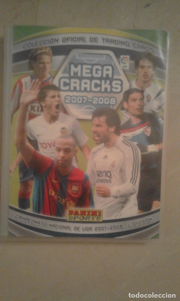Coleccionismo deportivo: Album Mega Cracks 2007 2008, Panini, con 340 cartas-trading cards-cromos (ligeros desperfectos lomo - Foto 5 - 109046883
