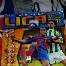 Coleccionismo deportivo: ÁLBUM DE LA LIGA 2005/2006 COLECCIONES ESTE DE PANINI . INCOMPLETO. Lote 109466975