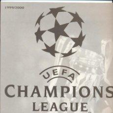 Coleccionismo deportivo: ALBUM UEFA CHAMPIONS LEAGUE PANINI 1999-2000 VACIO, NUEVO SIN USAR, VER FOTOS. Lote 109526719