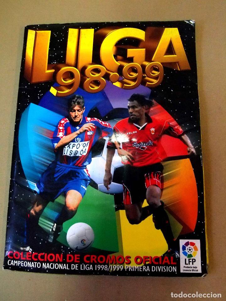 ALBUM LIGA 98 - 99, 1998 - 1999, EDICIONES ESTE, INCOMPLETO, FALTAN 8 CROMOS Y 14 ULTIMOS FICHAJES (Coleccionismo Deportivo - Álbumes y Cromos de Deportes - Álbumes de Fútbol Incompletos)
