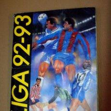 Coleccionismo deportivo: ALBUM LIGA 92 - 93, 1992 - 1993, EDICIONES ESTE, INCOMPLETO, FALTAN 62 CROMOS. Lote 109706955