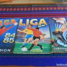Coleccionismo deportivo: CAMPEONATO DE LIGA 84 85 CROMOS CANO, ESTE LIGA 85 86 Y 86 87 INCOMPLETO. REGALO ASES 86 87 Y 88 89.. Lote 109784975