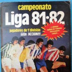 Coleccionismo deportivo: ALBUM FUTBOL LIGA 1981 1982 81 82 , EDICIONES ESTE ,A FALTA DE POCOS CROMOS , INCOMPLETO , B4. Lote 109904251