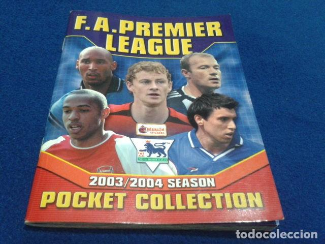 MINI ALBUM DE CHICLE POCKET COLLECTION F.A. PREMIER LEAGUE 2003 / 04 MERLIN FANTAN 15 CROMOS (Coleccionismo Deportivo - Álbumes y Cromos de Deportes - Álbumes de Fútbol Incompletos)