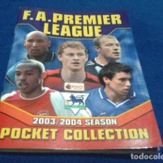 Coleccionismo deportivo: MINI ALBUM DE CHICLE POCKET COLLECTION F.A. PREMIER LEAGUE 2003 / 04 MERLIN FANTAN 15 CROMOS. Lote 110495075