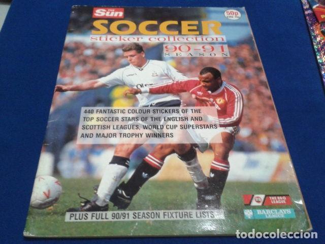 THE SUN SOCCER STRICKERC COLLECTION 90 - 91 SEASON POCOS CROMOS DIFICIL (Coleccionismo Deportivo - Álbumes y Cromos de Deportes - Álbumes de Fútbol Incompletos)