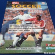 Coleccionismo deportivo: THE SUN SOCCER STRICKERC COLLECTION 90 - 91 SEASON POCOS CROMOS DIFICIL. Lote 110495391