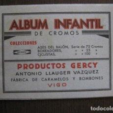Coleccionismo deportivo: ALBUM INFANTIL-SOLO 2 CROMOS- ASES BALON-BOXEADORES-CICLISTAS -GERCY -VIGO -VER FOTOS-(V-13.416). Lote 112259103