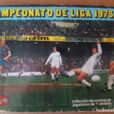 Coleccionismo deportivo: EDICIONES ESTE ALBUM LIGA 75/76 CON MUCHOS CROMOS,19 DOBLES. Lote 125912640