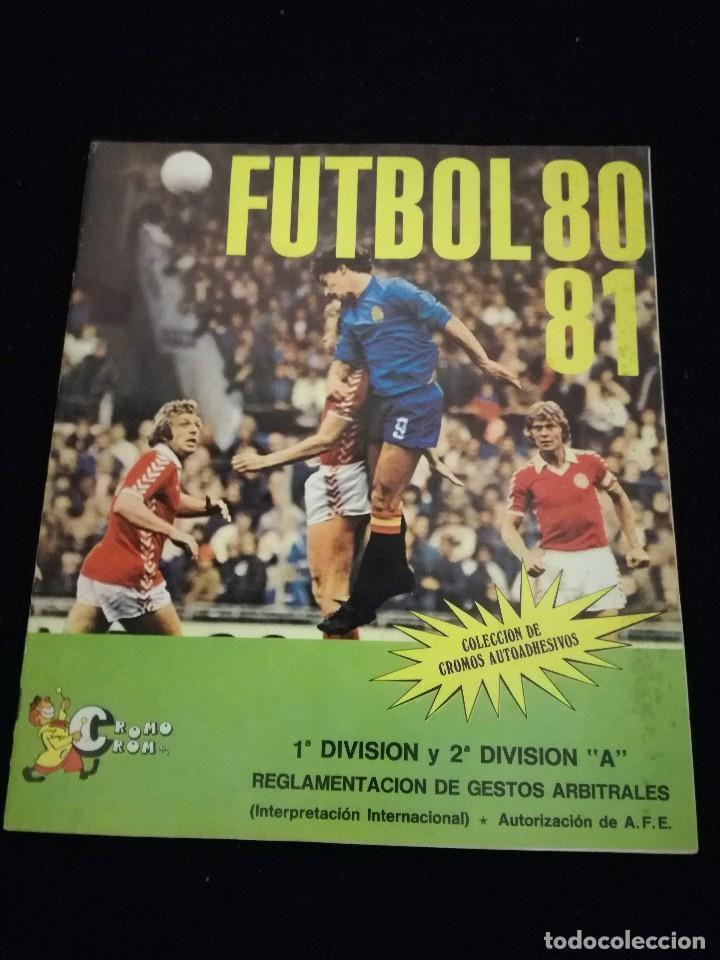 ÁLBUM DE CROMOS FÚTBOL 80 - 81 CROMO CROM (Coleccionismo Deportivo - Álbumes y Cromos de Deportes - Álbumes de Fútbol Incompletos)
